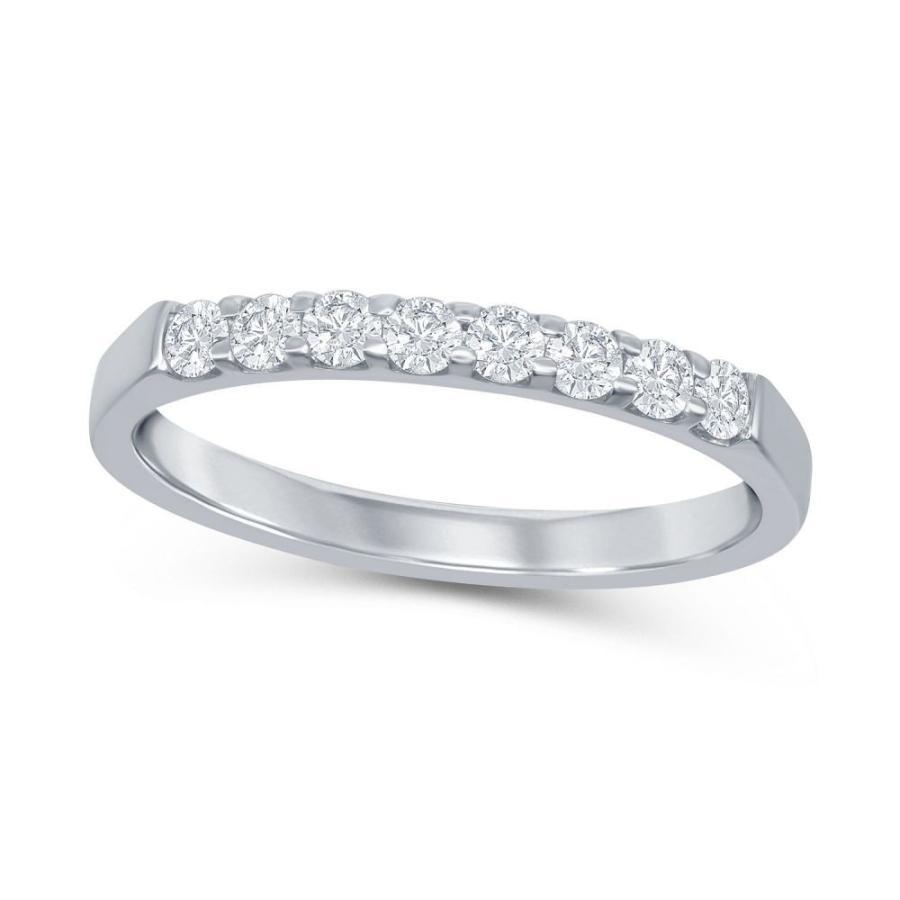高価値 メイシーズ Macy's ユニセックス 指輪・リング ジュエリー・アクセサリー Round Diamond (1/4 ct. t.w.) Shared Prong Band in 14K White Gold No Color, ベビーショップ ナチュラルボーン 3135cd2c