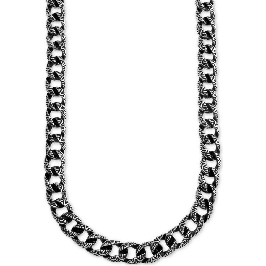 全国宅配無料 メイシーズ Macy's ユニセックス ネックレス ジュエリー・アクセサリー Large Decorative Curb Link 24