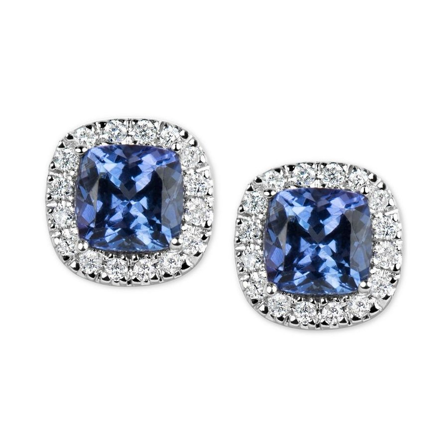 出産祝い メイシーズ t.w.) Macy's レディース イヤリング・ピアス Tanzanite (1-1/5 in (1-1/5 ct. t.w.) and Diamond (1/6 ct. t.w.) Stud Earrings in 14k White Gold, 品質検査済:2c25ca2e --- airmodconsu.dominiotemporario.com