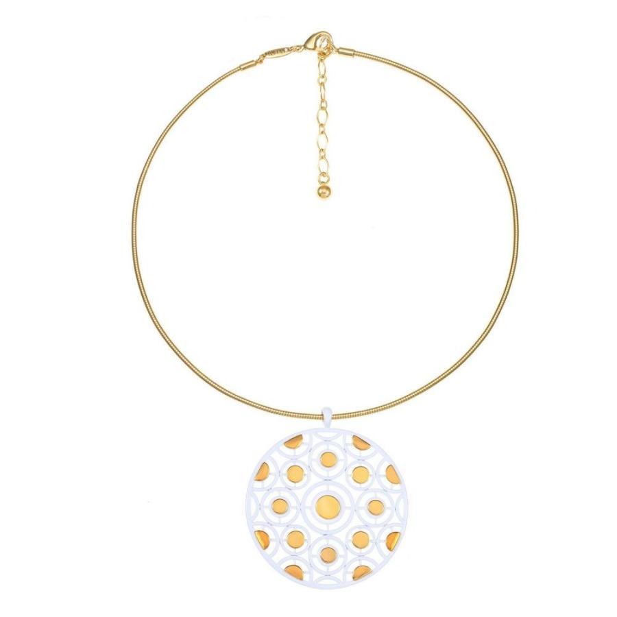 【送料込】 トリファリ Trifari ユニセックス ネックレス ネックレス ジュエリー・アクセサリー 14K Pendant Gold-Plated トリファリ Pendant Necklace White, お名前シール製作所:84f856d7 --- airmodconsu.dominiotemporario.com