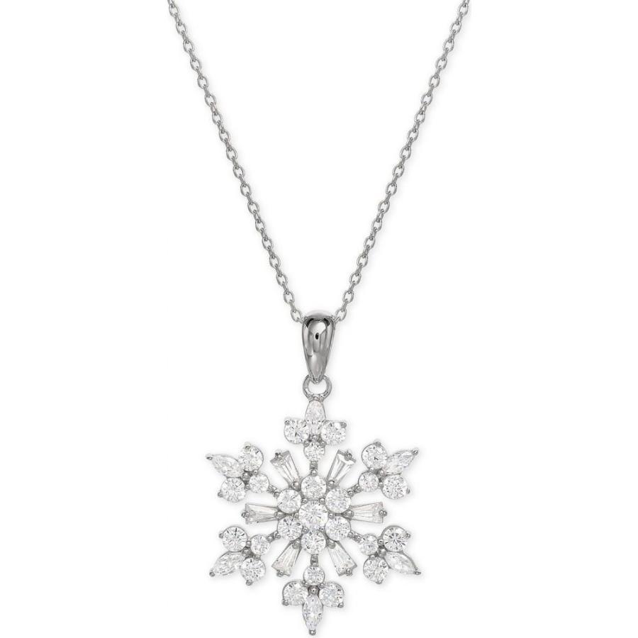 【予約販売品】 メイシーズ Macy's メンズ ネックレス ジュエリー・アクセサリー Cubic Zirconia Snowflake 18
