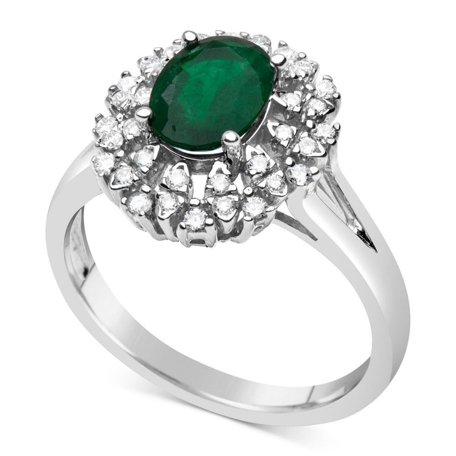 【70%OFF】 メイシーズ Macy's Macy's ユニセックス 指輪・リング Emerald (1-1/10 & t.w.) ct. t.w.) & Diamond (1/4 ct. t.w.) Ring in 14k White Gold Emerald, BETTER DAYS セレクトショップ:f570dd45 --- airmodconsu.dominiotemporario.com
