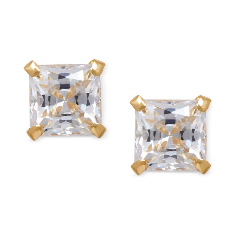 好きに メイシーズ 14k Macy's レディース Square イヤリング Stud・ピアス ジュエリー・アクセサリー Cubic Zirconia Square Stud Earrings in 14k Gold Yellow Gold, Lily and Ally:60659d1e --- airmodconsu.dominiotemporario.com