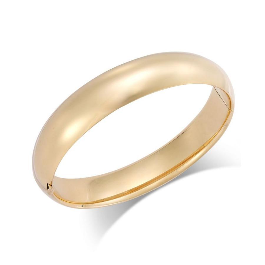 【海外 正規品】 メイシーズ Macy's Bracelet ユニセックス ブレスレット バングル ジュエリー Yellow・アクセサリー Polished メイシーズ Hinge Bangle Bracelet in 14k Gold Yellow Gold, 山形金庫:773266ce --- airmodconsu.dominiotemporario.com