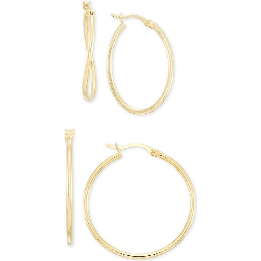 人気絶頂 メイシーズ Over Macy's レディース イヤリング Gold・ピアス Wavy Gold-Plated Hoop Earrings 2-Pc. Set in 14k Gold-Plated Sterling Silver Gold Over Silver, webショップTAKIGAWA:23487bb8 --- airmodconsu.dominiotemporario.com