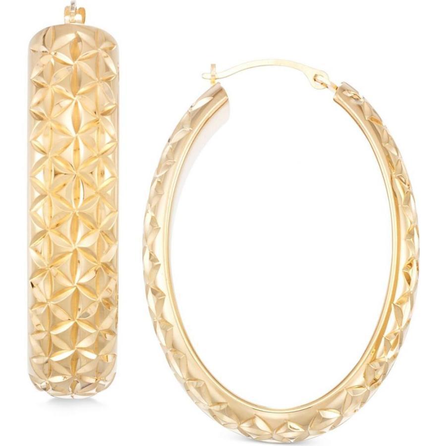 Mia Diamonds 14k White Gold Textured Hoop Earrings