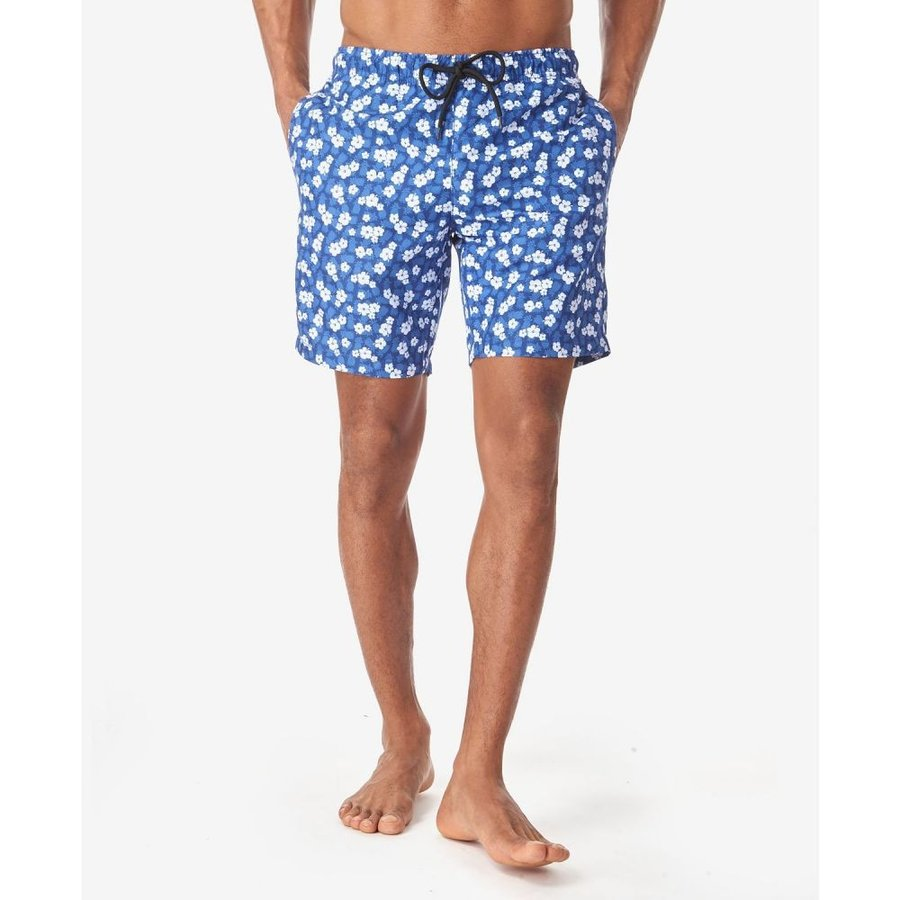 テーラー Tallia メンズ 海パン 水着・ビーチウェア Pineapple Floral Swim Trunks 白い/navy