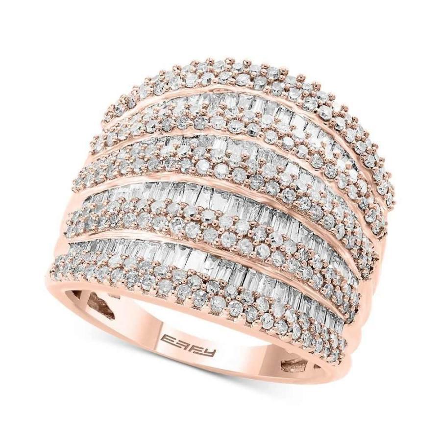 爆売り! エフィー Gold EFFY Collection ユニセックス Ring 指輪・リング EFFY Diamond 14k Multi-Row Statement Ring (1-3/4 ct. t.w.) in 14k White, Yellow and Rose Gold, ピアニッシモ:9edcaf65 --- airmodconsu.dominiotemporario.com