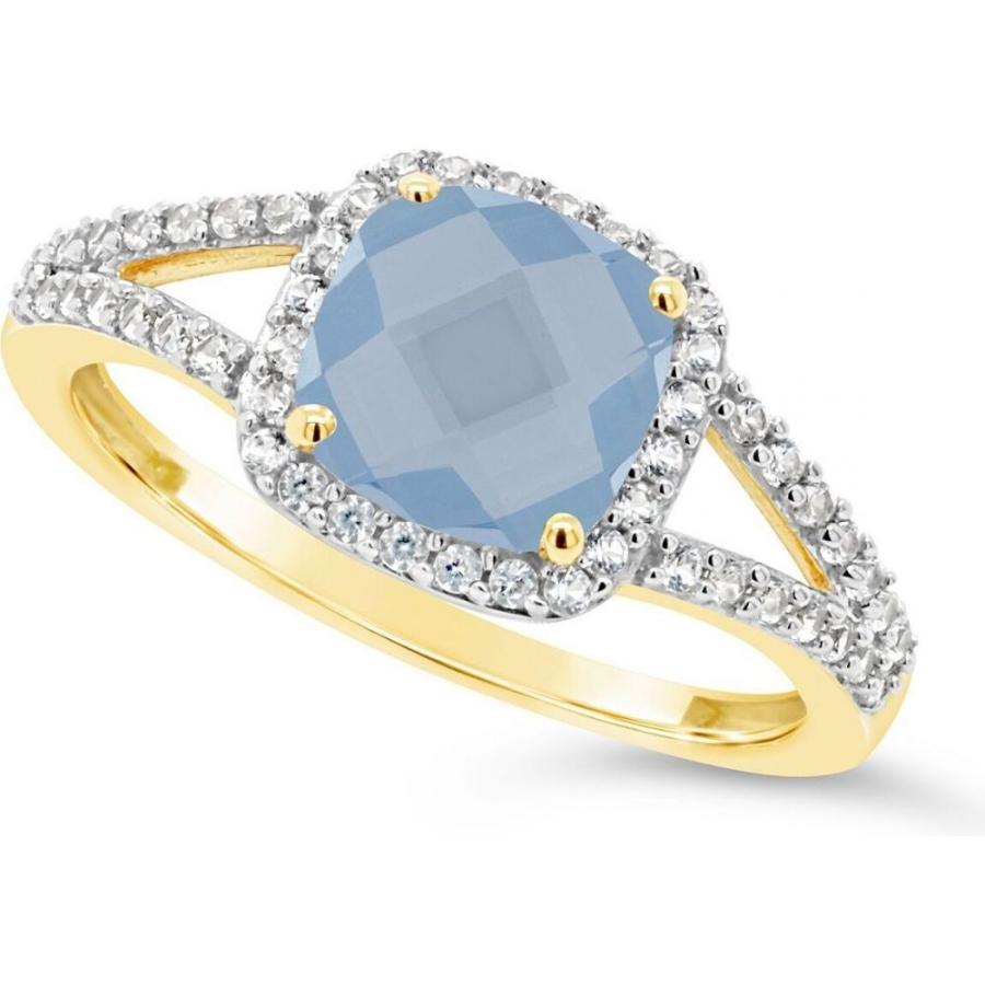 (訳ありセール 格安) メイシーズ Macy's メンズ 指輪・リング Created Spinel Aquamarine (1-5/8 ct. t.w.) and Created White Sapphire (1/4 ct. t.w.) Ring in 10k Yellow Gold, 水沢万葉亭 5e8f7239