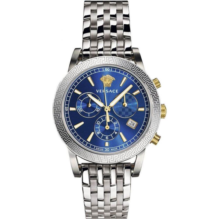 再再販! ヴェルサーチ Versace Watch レディース 腕時計 Swiss Chronograph Steel Bracelet Sport Tech Stainless Steel Bracelet Watch 40mm Stainless Steel, アースグリム:c322a37a --- airmodconsu.dominiotemporario.com