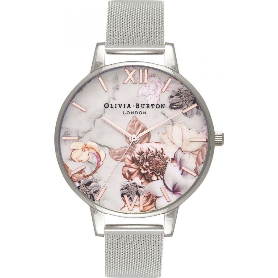 宅配便配送 オリビア バートン Olivia Burton レディース 腕時計 ブレスレットウォッチ Stainless Steel Mesh Bracelet Watch 38mm White Flow, ユザワマチ c7a09214