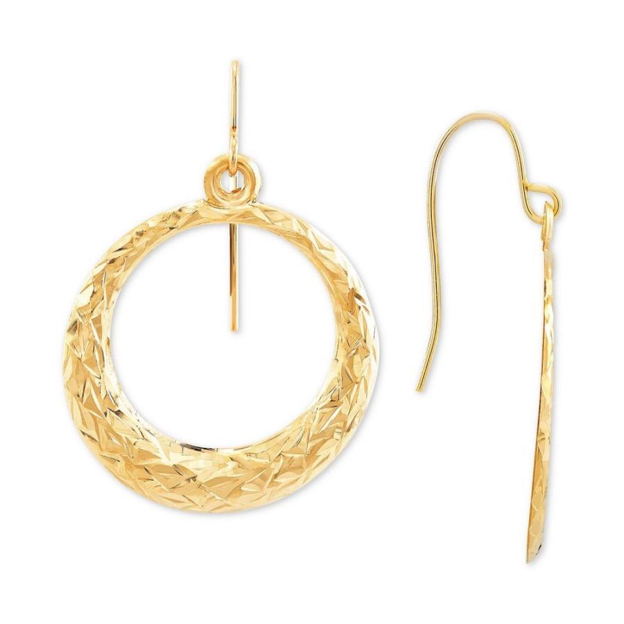 【35%OFF】 メイシーズ Macy's レディース メイシーズ イヤリング・ピアス ジュエリー・アクセサリー Hoop Textured Drop Gold Hoop Earrings in 14k Gold Gold, GARNIER(ガルニエ):b3050b33 --- airmodconsu.dominiotemporario.com