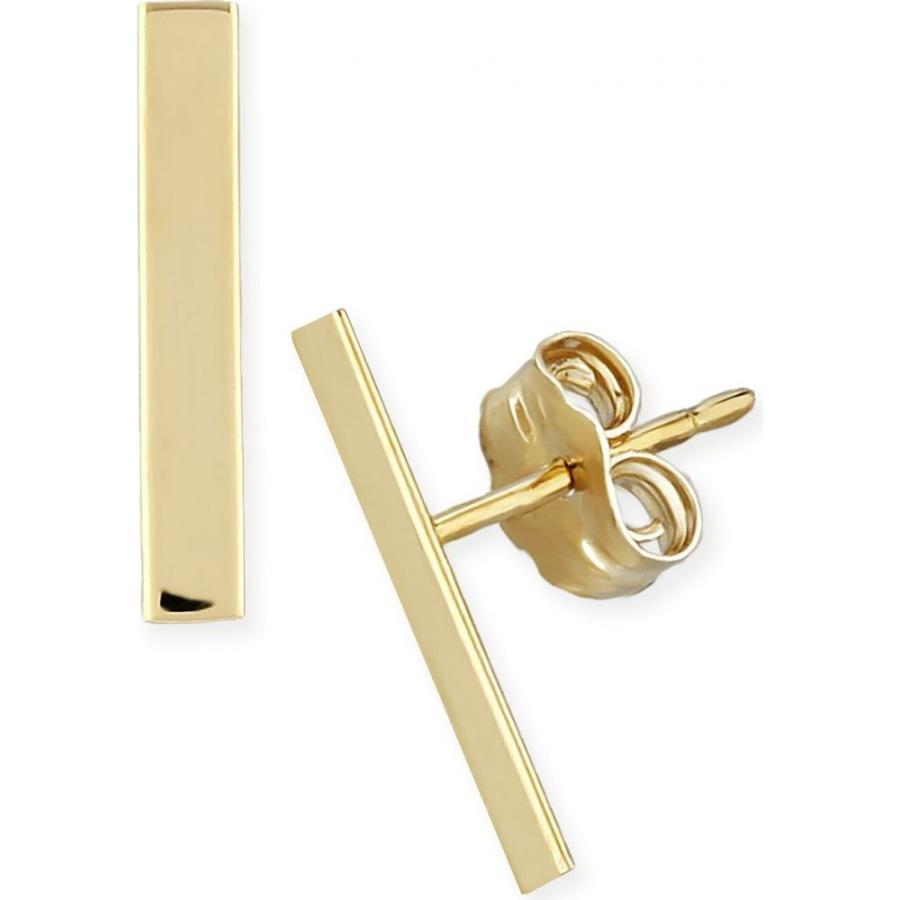 独特な店 メイシーズ Macy's レディース イヤリング・ピアス ジュエリー Gold・アクセサリー Gold or Flat Bar Stud Earrings Set in 14k Yellow or Rose Gold Gold, バンダイマチ:414555e7 --- airmodconsu.dominiotemporario.com