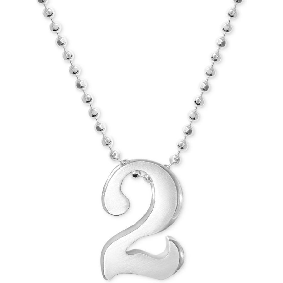 優先配送 アレックス ウー Alex Woo Silver メンズ メンズ Woo ネックレス ジュエリー・アクセサリー Number Pendant Necklace in Sterling Silver, キツレガワマチ:4a089610 --- airmodconsu.dominiotemporario.com