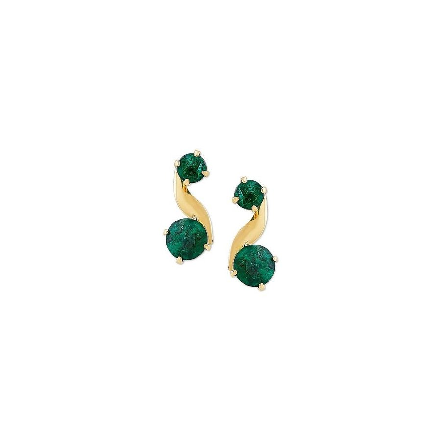 【35%OFF】 メイシーズ Macy's ct. レディース イヤリング・ピアス 10k ドロップピアス Emerald Earrings Swirl Drop Earrings (3/4 ct. t.w.) in 10k Gold Emerald, ニシメヤムラ:7652c1a4 --- airmodconsu.dominiotemporario.com