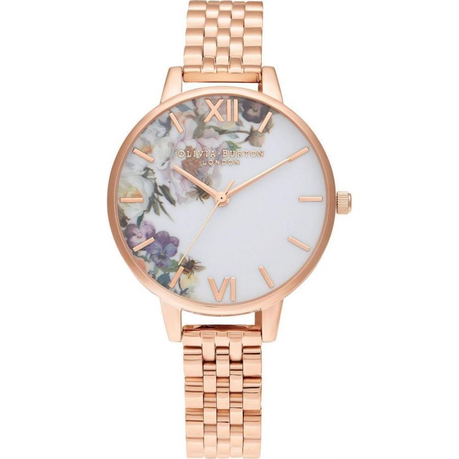 大特価!! オリビア バートン Olivia Burton レディース 腕時計 ブレスレットウォッチ Enchanted Garden Rose Gold-Tone Stainless Steel Bracelet Watch 34mm Rose Gold, 激安通販 4a58ba05