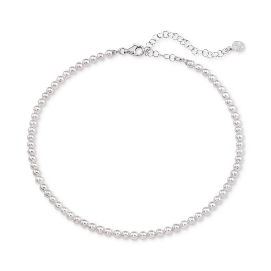 格安販売の マジョリカ Majorica メンズ マジョリカ ネックレス ジュエリー・アクセサリー Majorica extender Imitation Pearl Strand Necklace in Sterling Silver, 13