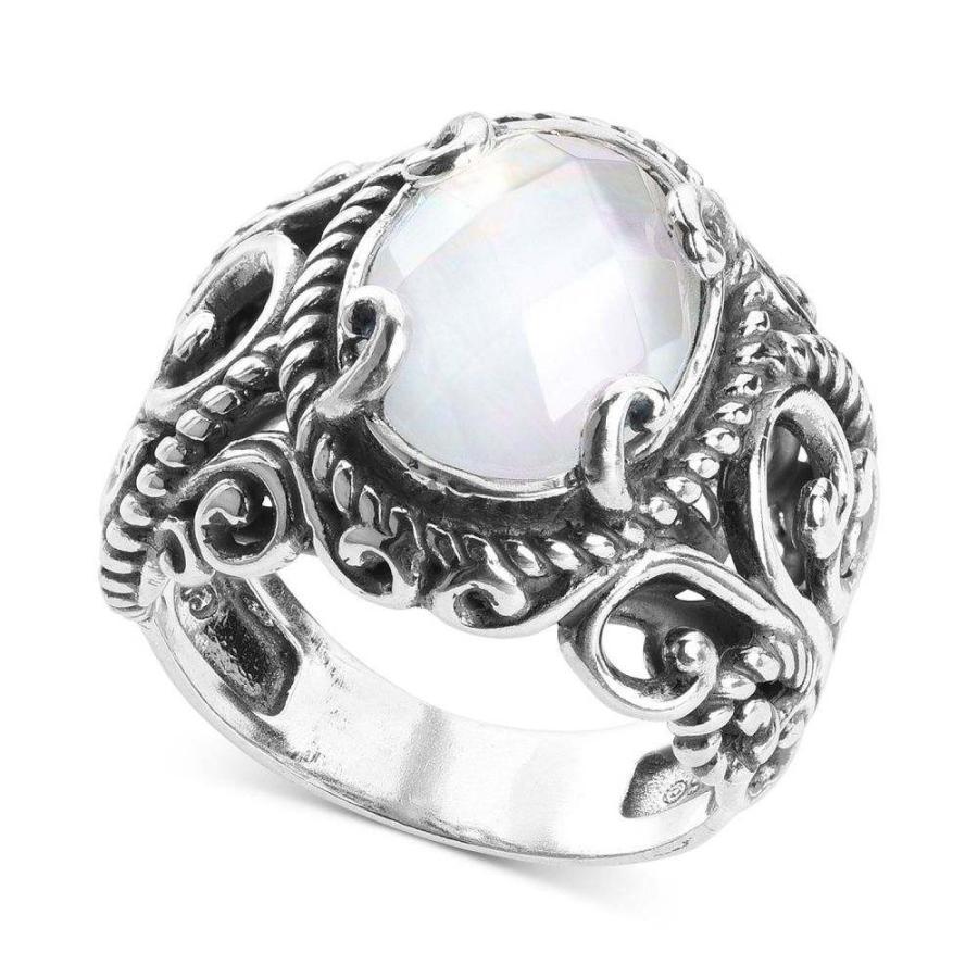 【本物保証】 キャロライン ポラック Carolyn Doublet Pollack メンズ 指輪 Silver・リング Mother-of-Pearl Quartz Sterling Doublet Statement Ring in Sterling Silver Sterling Silver, 色めき:623f8739 --- bit4mation.de