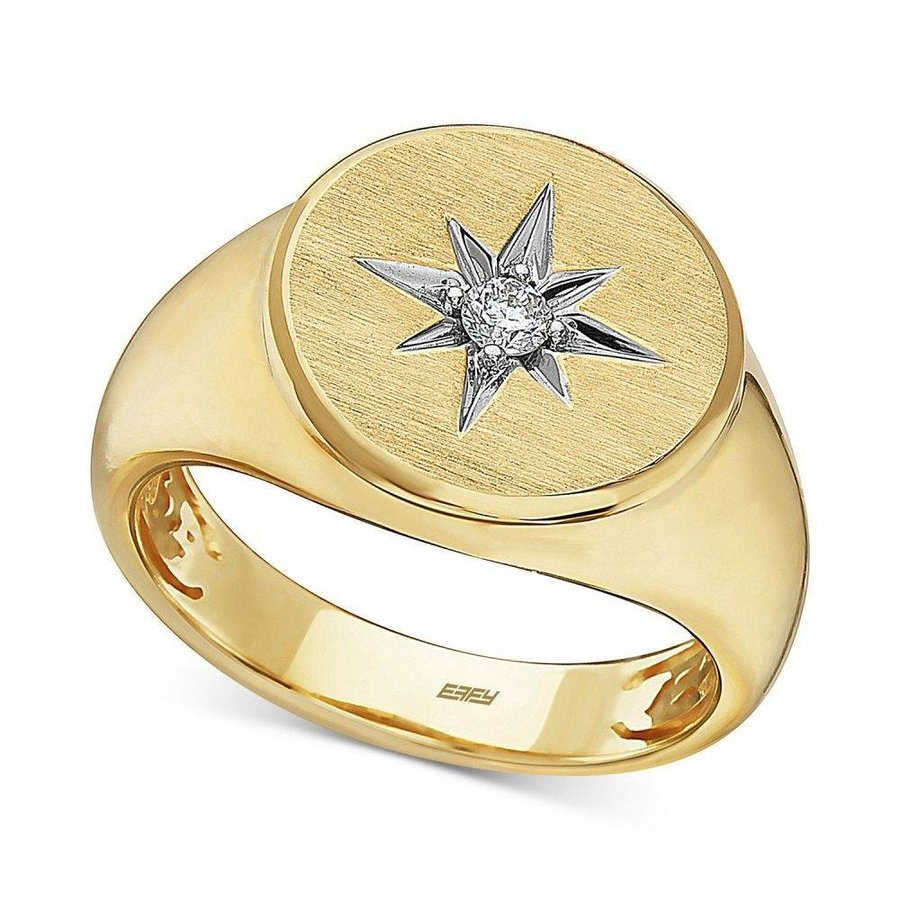 値段が激安 エフィー t.w.) EFFY Collection Yellow ユニセックス 指輪・リング ジュエリー Gold・アクセサリー EFFY Diamond Star Ring (1/10 ct. t.w.) in 14k Gold Yellow Gold, みね商店:14fe875e --- airmodconsu.dominiotemporario.com