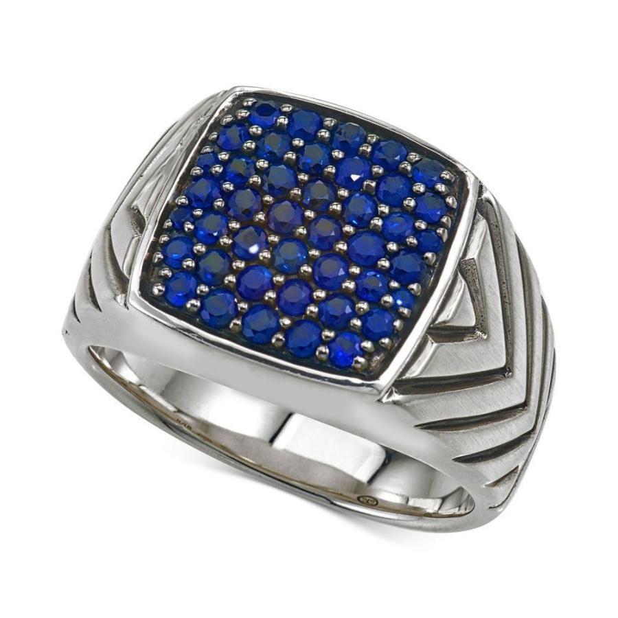 速くおよび自由な エスクァイア Esquire Men's Jewelry Silver レディース Silver 指輪・リング ジュエリー・アクセサリー Ring Sapphire Cluster Ring (1 3/8 ct. t.w.) in Sterling Silver Silver, 人気ショップ:9b29b090 --- airmodconsu.dominiotemporario.com