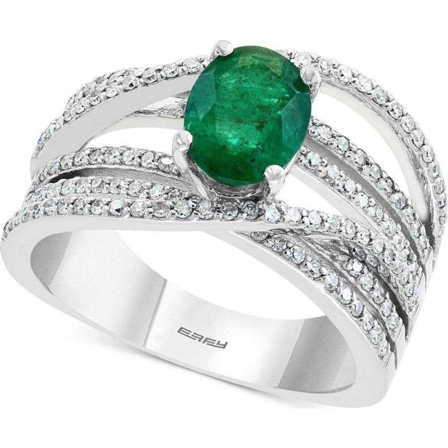 100 %品質保証 エフィー ユニセックス EFFY Collection ユニセックス 指輪・リング Collection EFFY Diamond Gold (1/2 ct. t.w.) & Emerald (1-1/8 ct. t.w.) Ring in 14k White Gold Emerald, ホビーゾーン:e1db77c9 --- airmodconsu.dominiotemporario.com