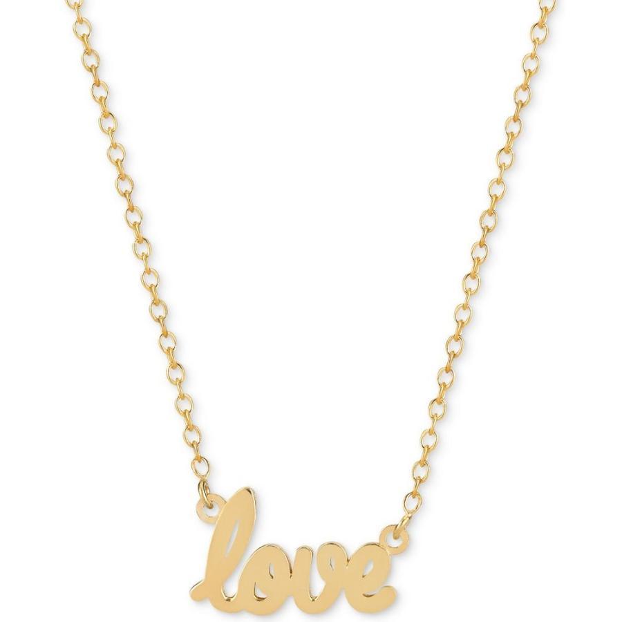 大人女性の サラクロエ Sarah Chloe メンズ ネックレス ジュエリー・アクセサリー Love Adjustable Pendant Necklace in 14k Gold-Plated Sterling Silver Yellow Gold, ものづくり百貨店 4b4b2e64