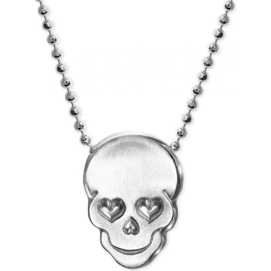 2019特集 アレックス ウー Alex Woo メンズ ネックレス ジュエリー・アクセサリー Love Skull Beaded Pendant Necklace in Sterling Silver Silver, 宅配レンタル衣裳アイビス 2b0a4af5