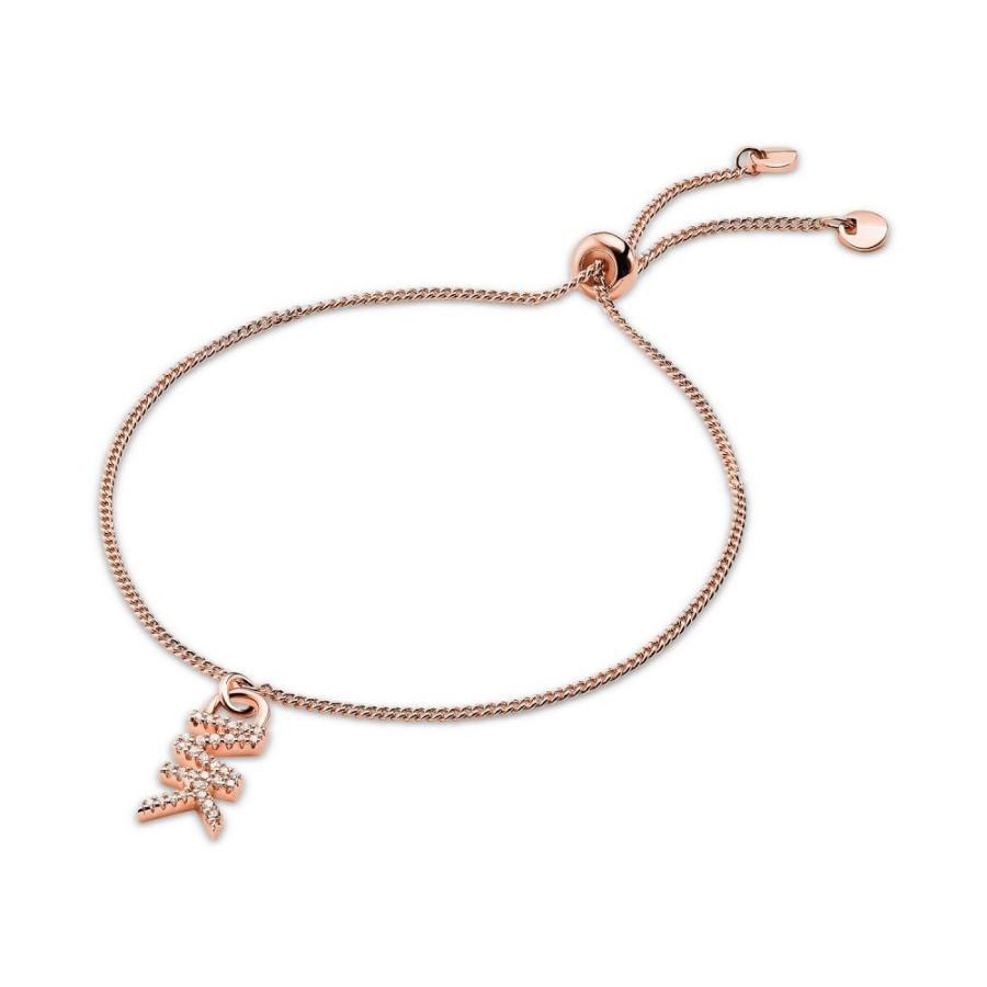 【期間限定送料無料】 マイケル コース Michael Kors メンズ ブレスレット ジュエリー・アクセサリー Crystal Logo Charm Slider Bracelet Rose Gold, 暮らしと眠りを楽しむ店 和っふる 0c722d92