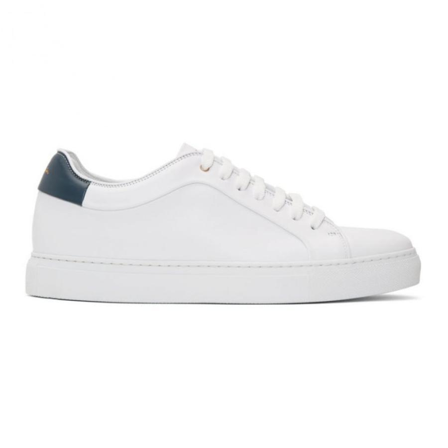 大人気定番商品 ポールスミス White Paul Smith メンズ スニーカー ポールスミス シューズ・靴 White/Blue White & Blue Basso Sneakers White/Blue, 毛糸専門店サトー:89044efe --- lighthousesounds.com