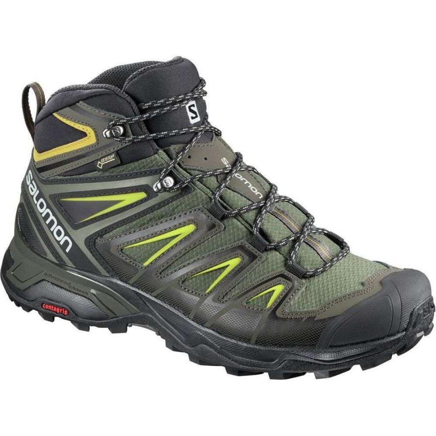 サロモン メンズ シューズ・靴 ハイキング・登山 X Ultra 3 Mid GTX Hiking Boots Castor Gray/Black/Green Sulphur