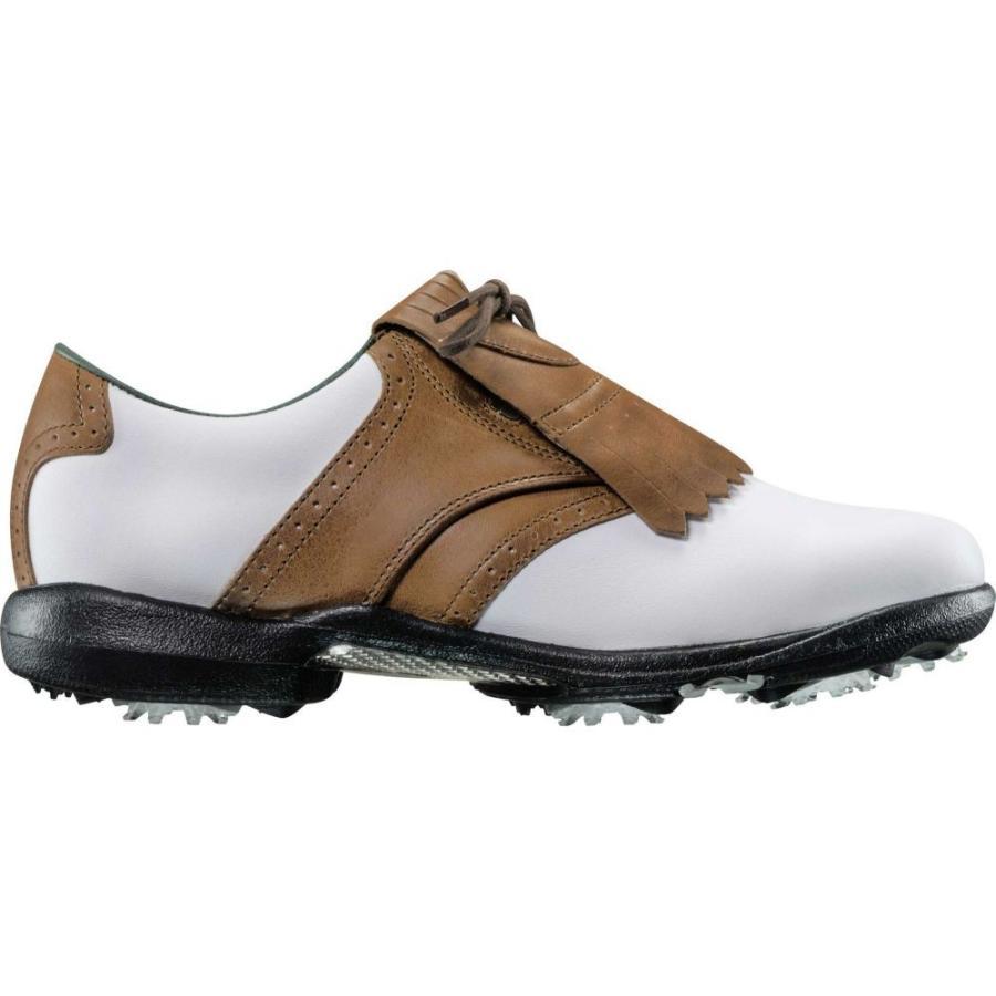 フットジョイ FootJoy レディース ゴルフ シューズ・靴 dryjoys golf shoes White/Brown