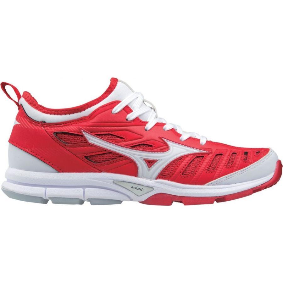 ミズノ Mizuno レディース 野球 スニーカー シューズ・靴 players trainer 2 softball turf shoes 赤/白い