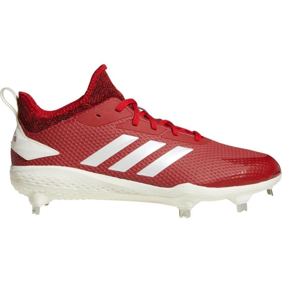 アディダス adidas メンズ 野球 スパイク シューズ・靴 adizero afterburner v metal baseball cleats 赤/白い