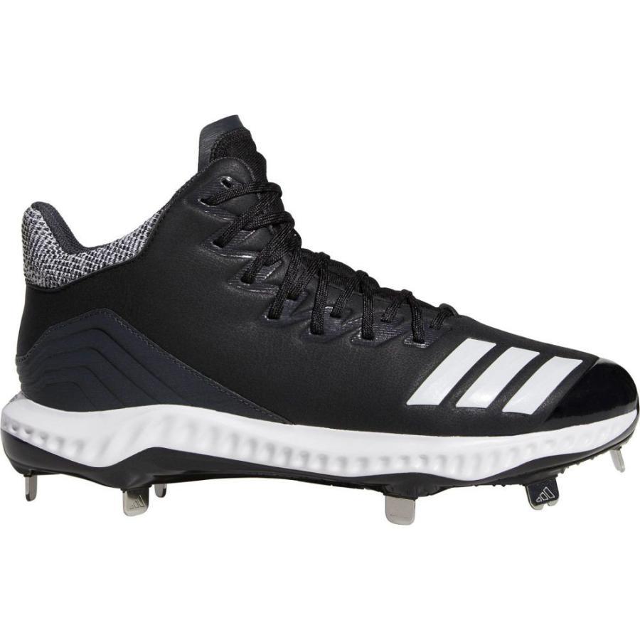 アディダス adidas メンズ 野球 スパイク シューズ・靴 icon bounce mid metal baseball cleats 黒/白い