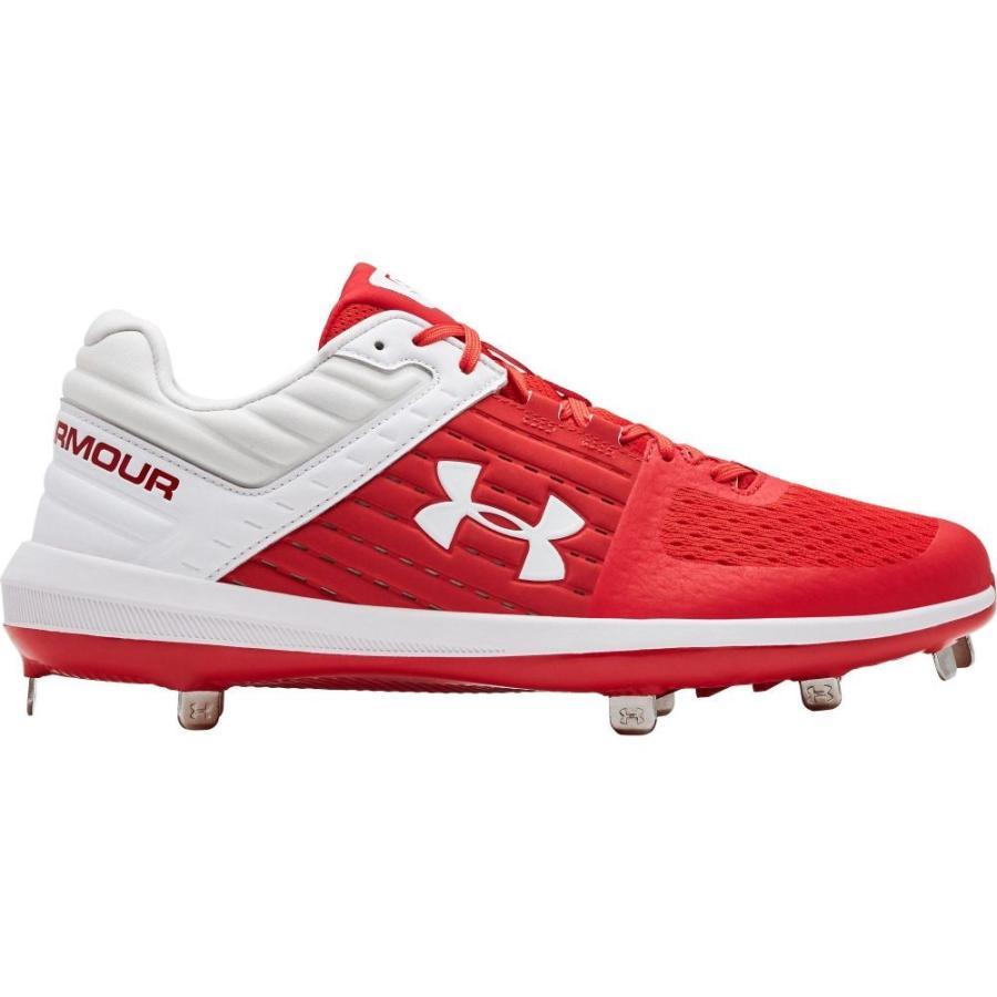 アンダーアーマー Under Armour メンズ 野球 スパイク シューズ・靴 yard st baseball cleats 赤/白い