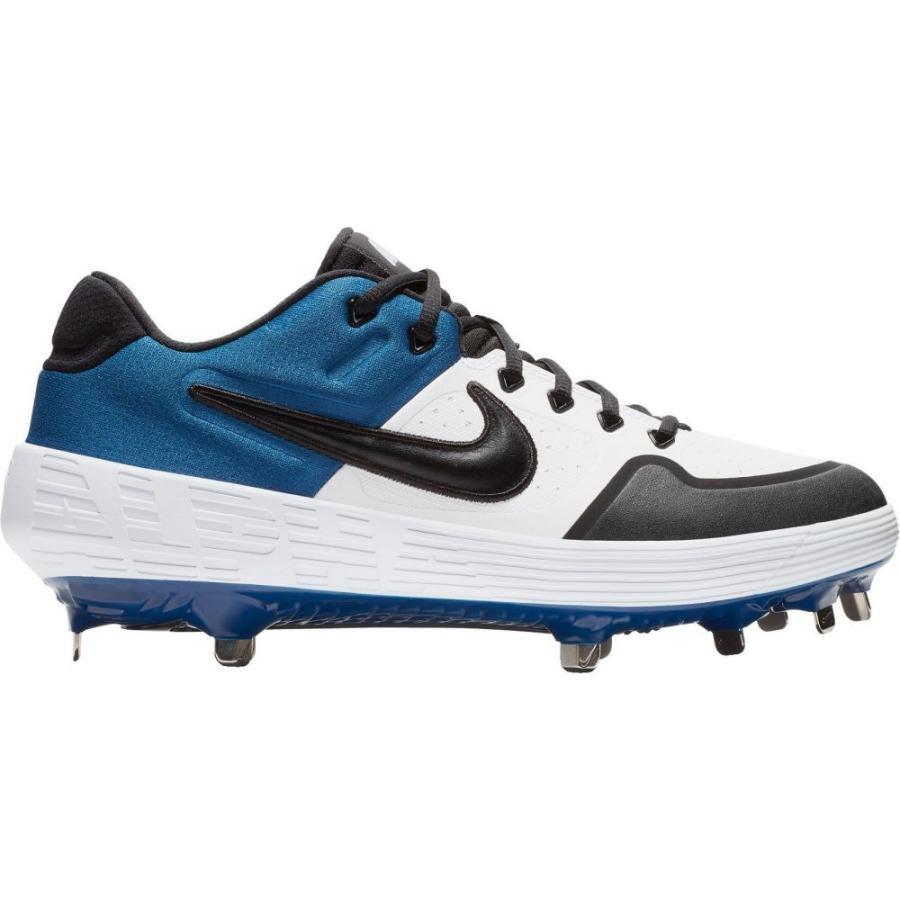 ナイキ Nike メンズ 野球 スパイク シューズ・靴 alpha huarache elite 2 baseball cleats 白い/青