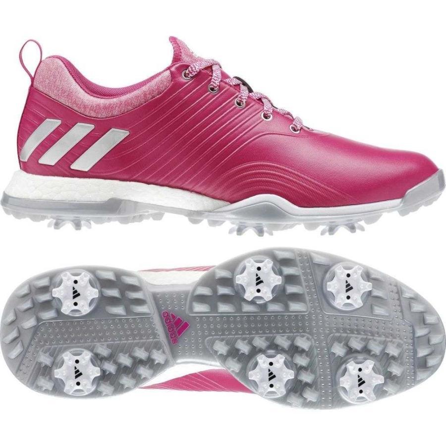 アディダス adidas レディース ゴルフ シューズ・靴 adipower 4orged golf shoes ピンク/白い
