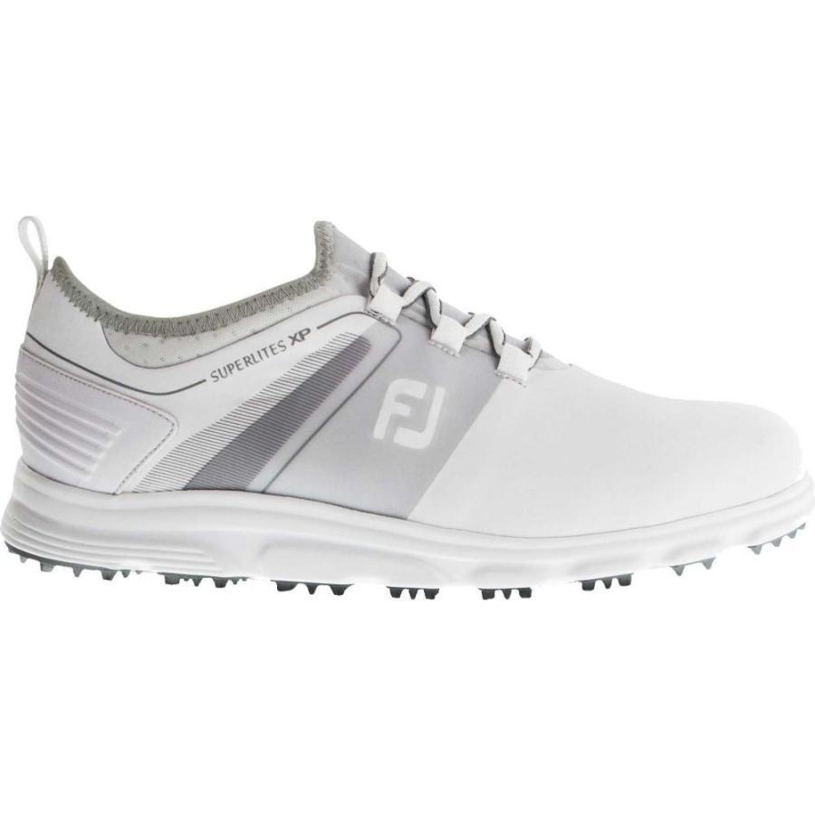 フットジョイ FootJoy メンズ ゴルフ シューズ・靴 2019 superlites xp golf shoes 白い/グレー