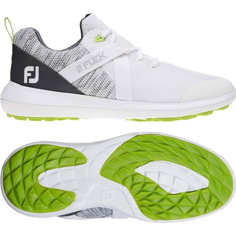 フットジョイ FootJoy メンズ ゴルフ シューズ・靴 flex golf shoes 白い
