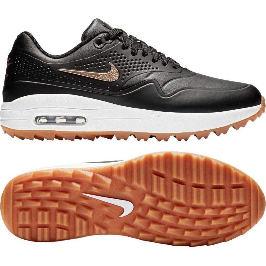 ナイキ Nike レディース ゴルフ シューズ・靴 air max 1 g golf shoes 黒/赤 Bronze/褐色