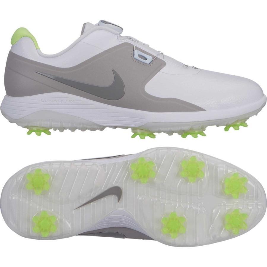 ナイキ Nike メンズ ゴルフ シューズ・靴 vapor pro boa golf shoes 白い/Med グレー/Volt Glow