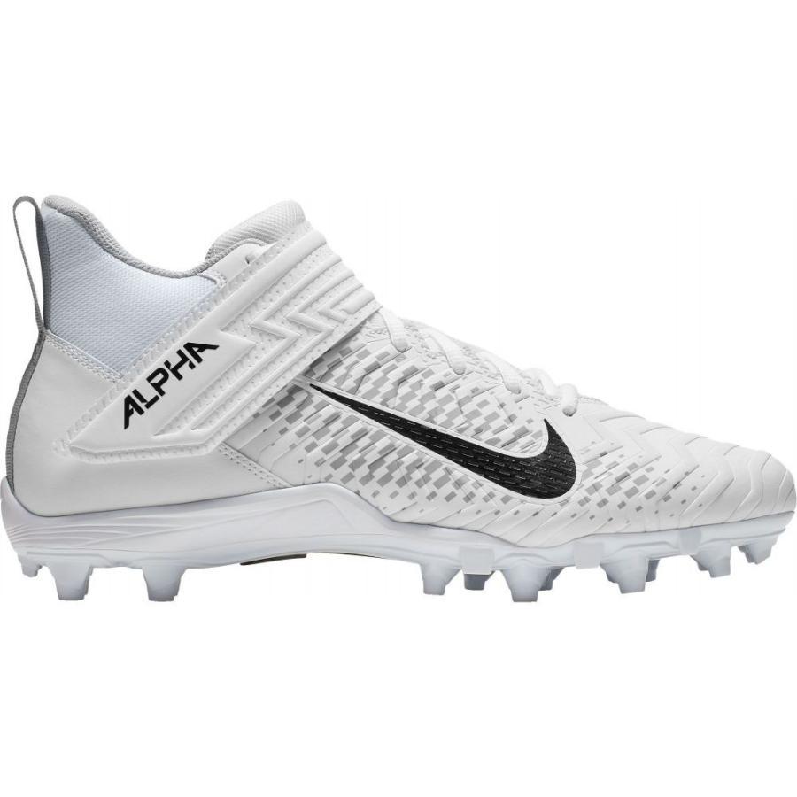 ナイキ Nike メンズ シューズ・靴 アメリカンフットボール Alpha Menace Shark 2 Mid Football Cleats 白い/黒