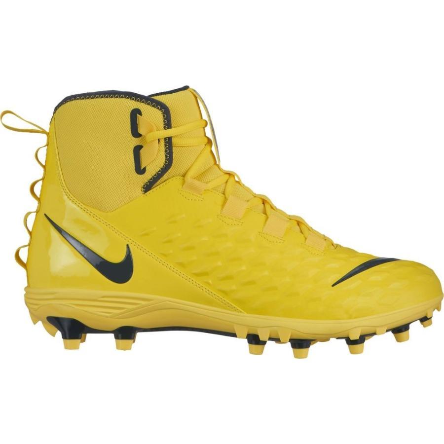 ナイキ Nike メンズ アメリカンフットボール スパイク シューズ・靴 force savage varsity 2 mid football cleats 黄/黒