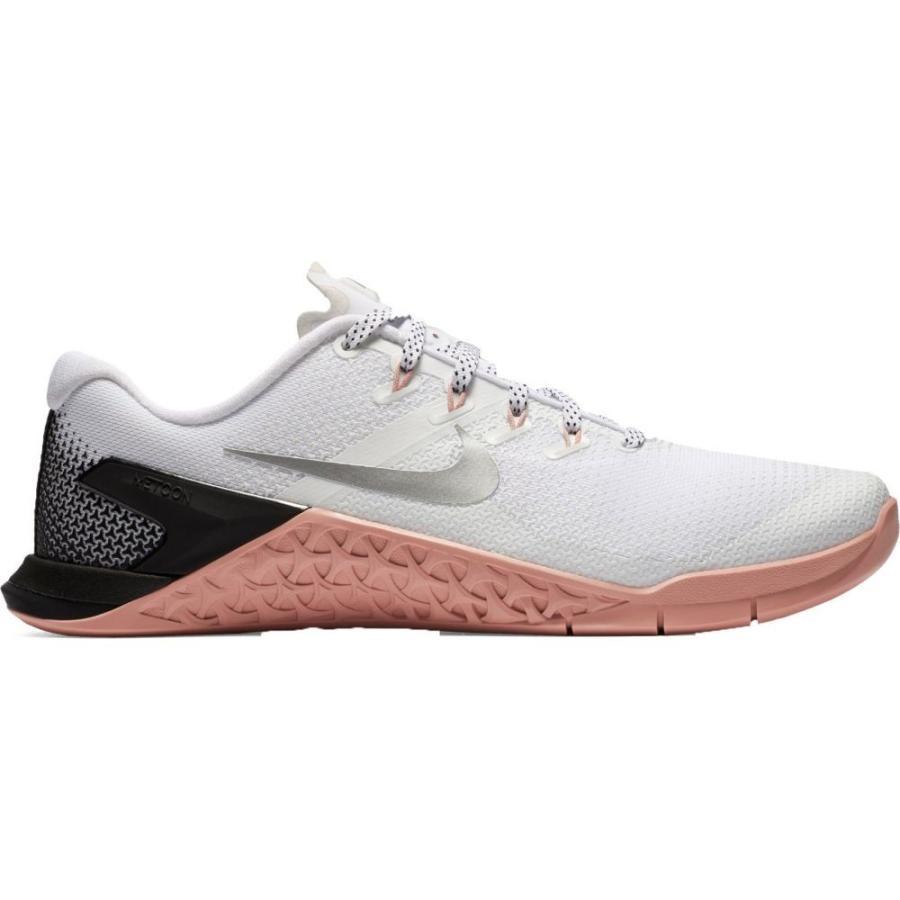 【感謝価格】 ナイキ Nike レディース フィットネス・トレーニング シューズ・靴 Metcon 4 Training Shoes White/Metallic Silver, 文具のワンダーランド キムラヤ 34e69f81