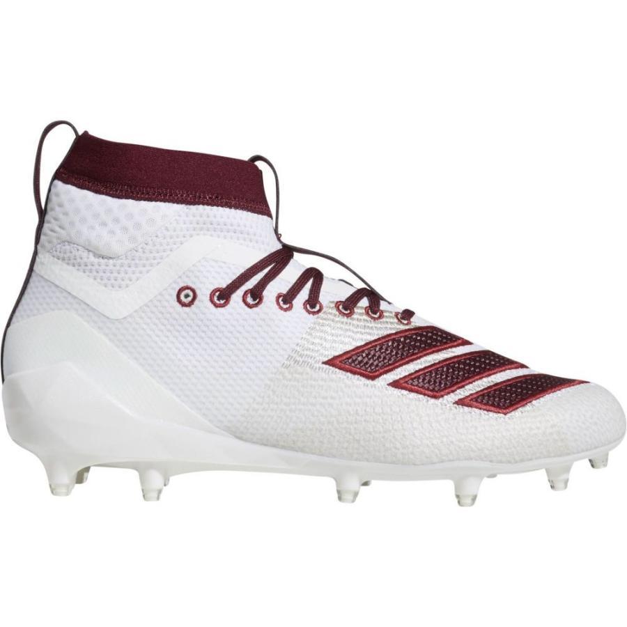 豪奢な アディダス シューズ・靴 adidas メンズ アメリカンフットボール スパイク シューズ・靴 adizero Burner 8.0 スパイク Burner SK Football Cleats White/Maroon, ヒダカグン:4b0451f0 --- airmodconsu.dominiotemporario.com