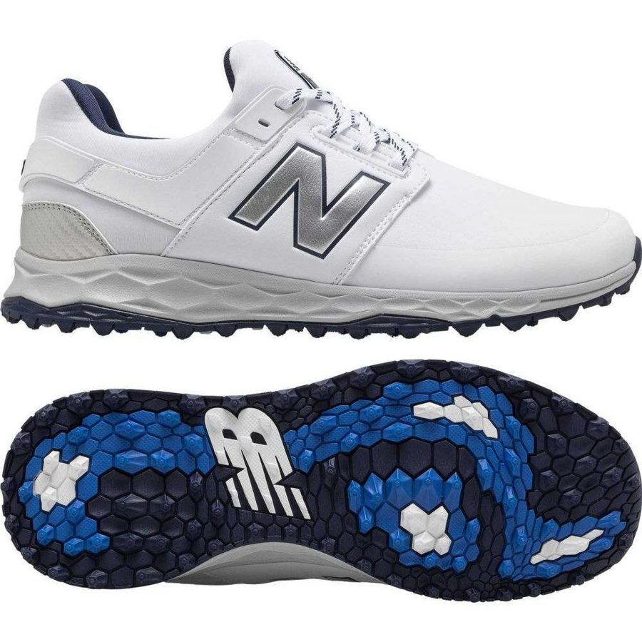 【5%OFF】 ニューバランス New Balance New メンズ ゴルフ Golf シューズ・靴 ゴルフ Fresh Foam LinksSL Golf Shoes White/Navy, Vitamin Sea:42bb59b4 --- airmodconsu.dominiotemporario.com
