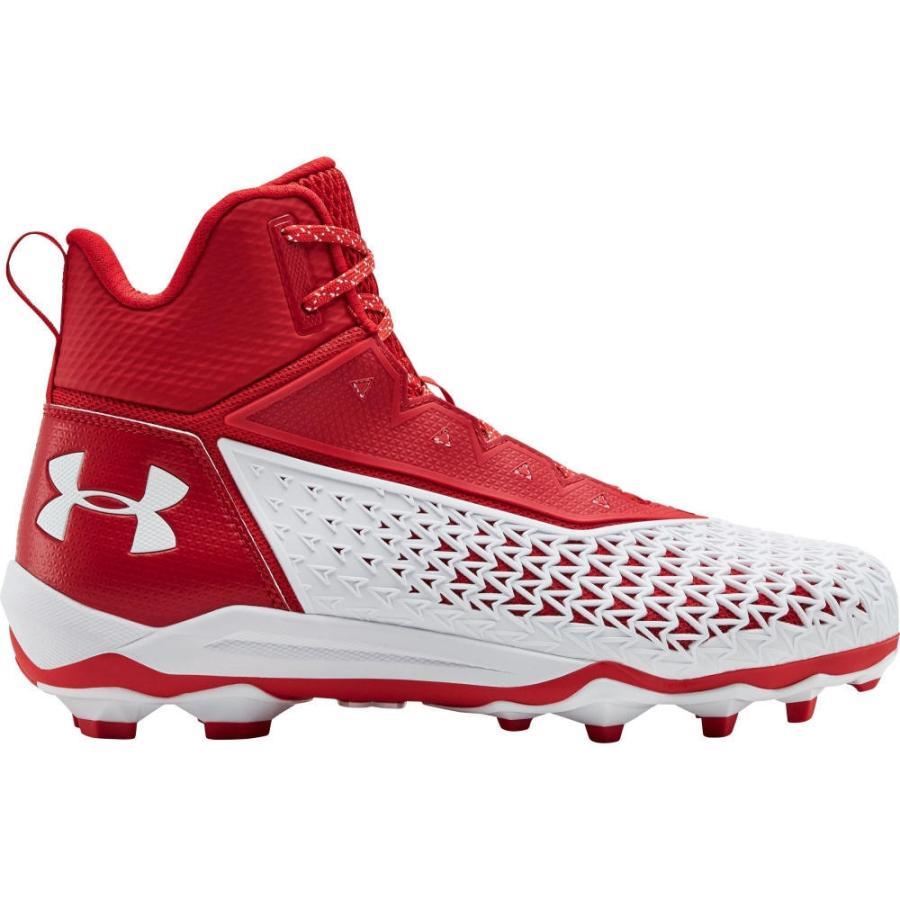 人気商品の アンダーアーマー MC Under Armour メンズ Red/White アメリカンフットボール スパイク シューズ Hammer・靴 Hammer Mid MC Football Cleats Red/White, 工具ワールド ARIMAS:a6c5e8f5 --- airmodconsu.dominiotemporario.com