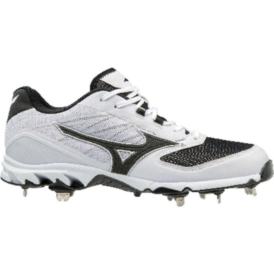 公式サイト ミズノ Mizuno メンズ 野球 スパイク シューズ・靴 9-Spike Dominant IC Metal Baseball Cleats White/Black, FLORA(フローラ) f28990da
