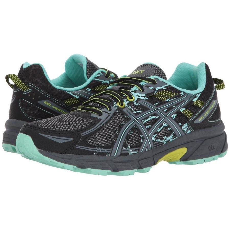 アシックス ASICS レディース ランニング・ウォーキング シューズ・靴 GEL-Venture 6 黒/Carbon/Neon Lime