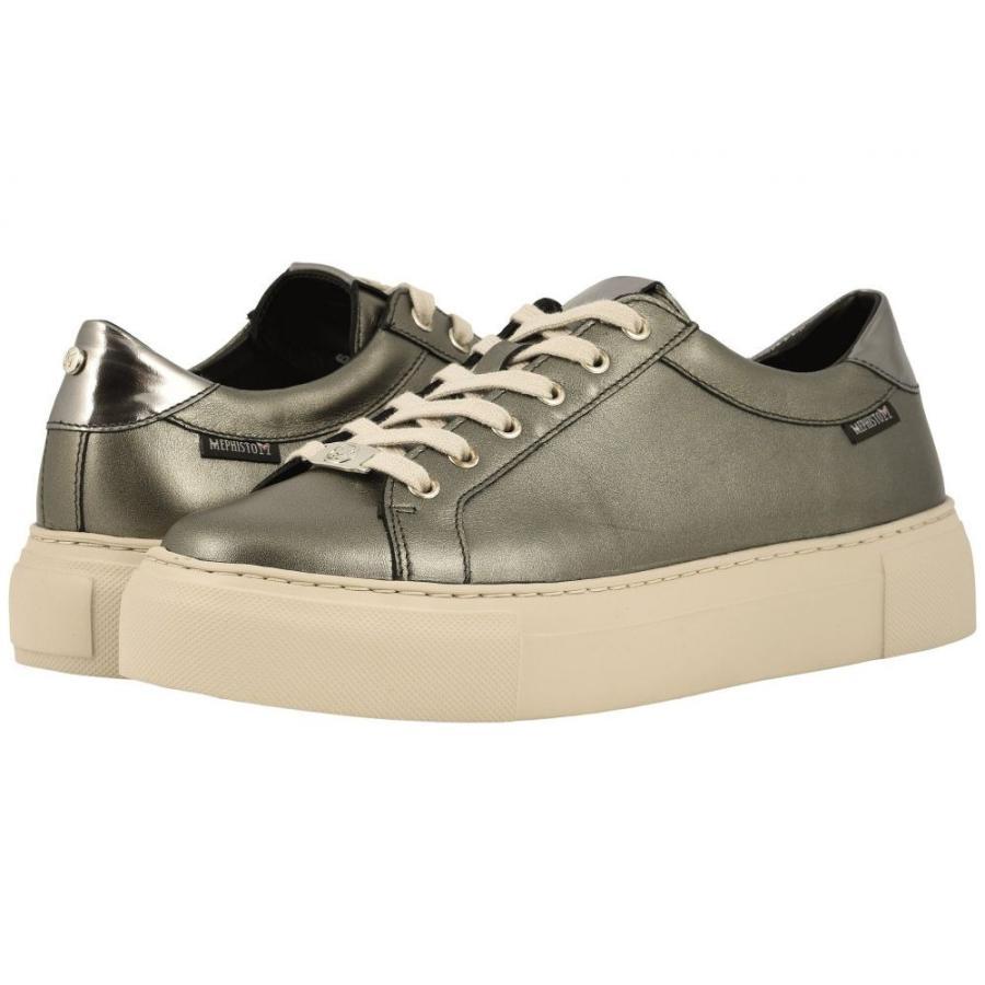 保障できる メフィスト Mephisto レディース スニーカー シューズ・靴 Gyna Dark Grey Perl Calfskin/Steel Magic, 靴通販のシューズダイレクトPlus f9f30af4